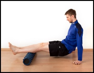 Foam Rolling the Calves