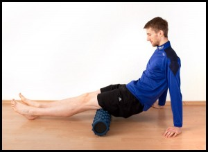 Foam Rolling the hamstrings