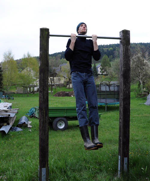Rubber boot chin-ups are the best chin-ups.