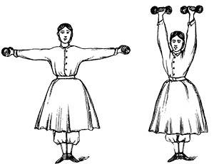 exercising lady