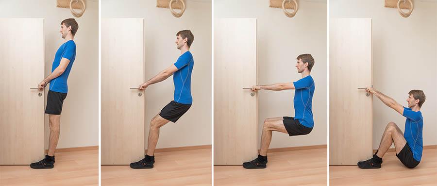 Amosov squat knee strengthening exercise