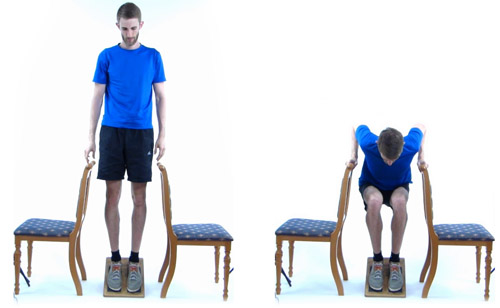 How to do eccentric squats if you have tendonitis in both knees