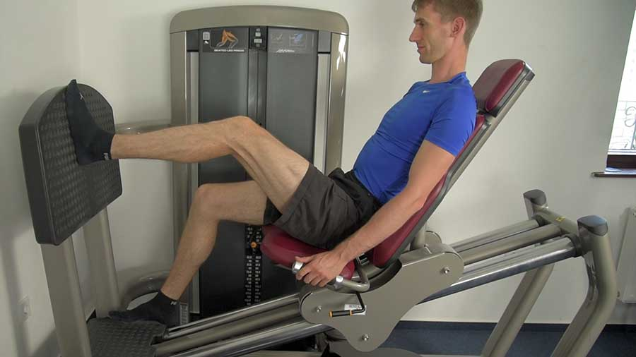 the leg press is a great exercise to cure jumpers knee
