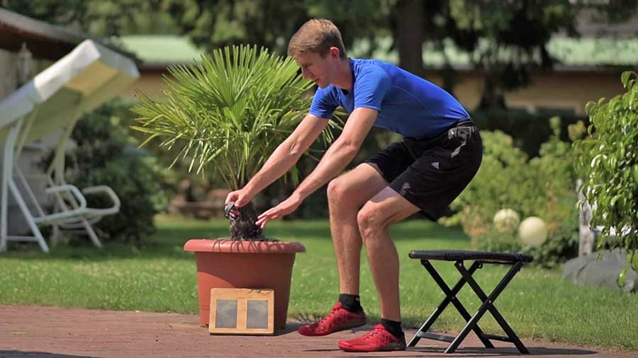 Single-leg eccentric squats are a great treatment exercise for knee tendonitis once the knee can tolerate it