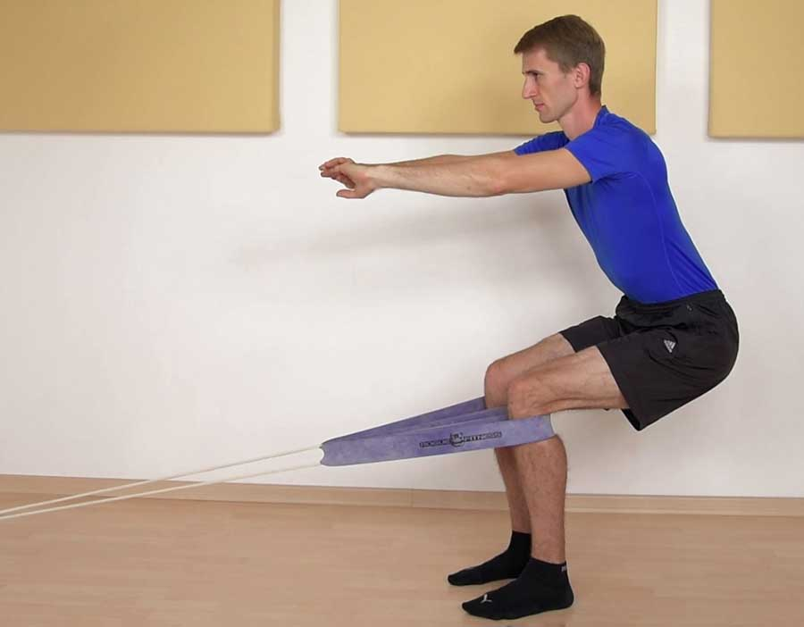 The Spanish Squat for tendonitis in the knee